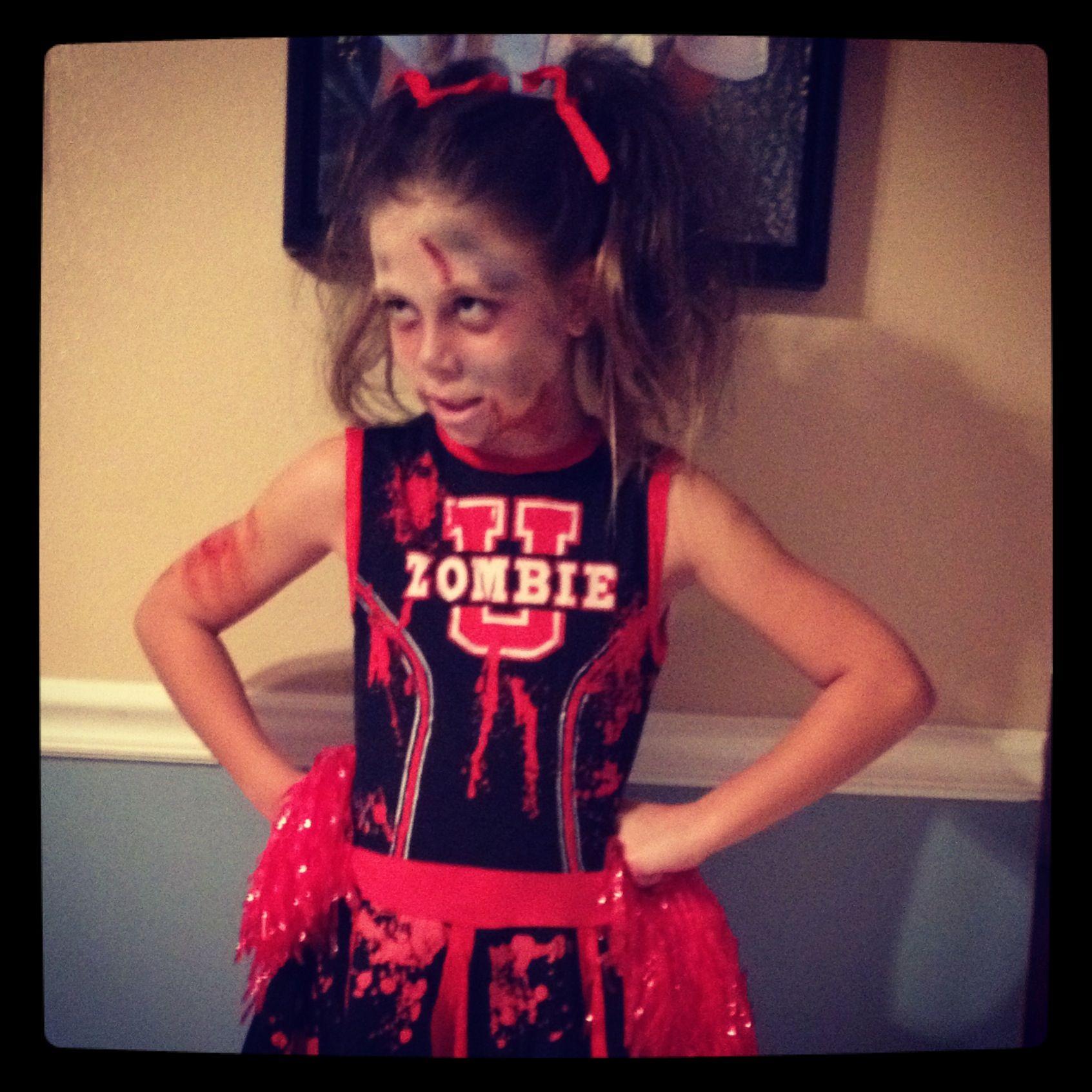Zombie Cheerleader Halloween Costume Makeup  sc 1 st  Pinterest & Zombie Cheerleader Halloween Costume Makeup | Cheerleader zombie ...