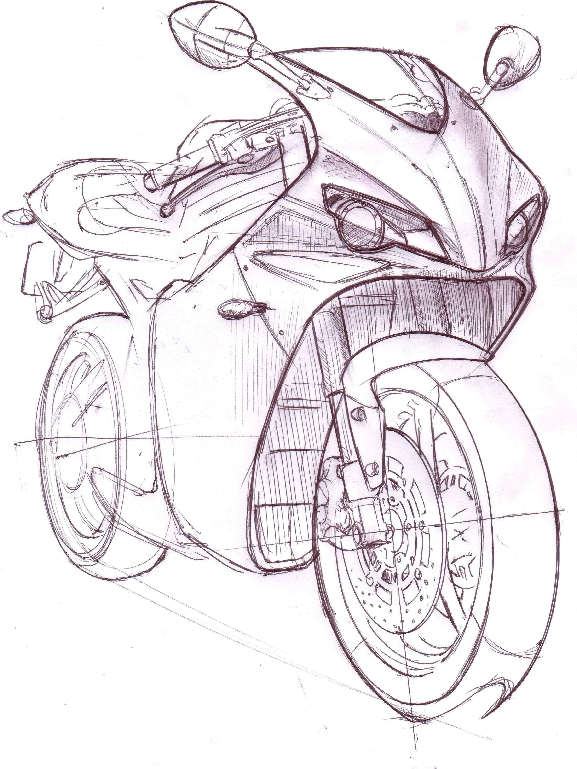 rieju rs3 by mark wells at coroflot izim pinterest Custom Suzuki Intruder 700 rieju rs3 by mark wells at coroflot bike sketch car drawings motorcycle