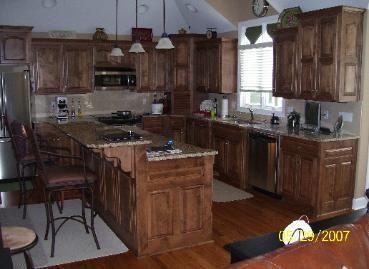 Alder stained special walnut | Walnut kitchen cabinets ...