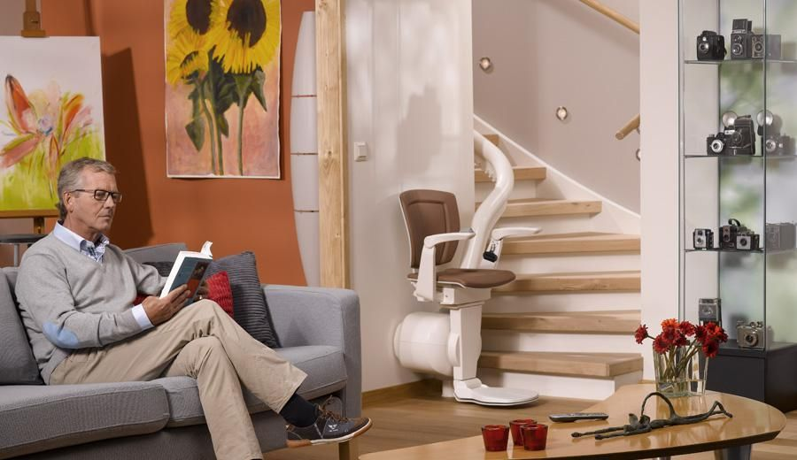 Otolift One Stairlift Parked Downstairs Stair Lifts Indoor