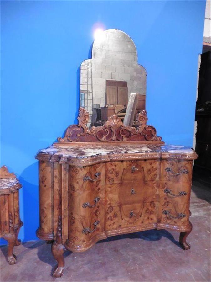 beautiful antique chippendale italian bedroom set dresser