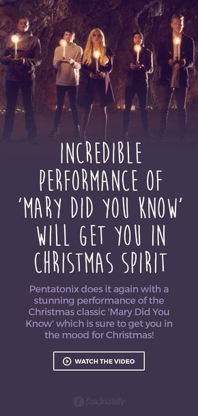 Incredible Performance of 'Mary Did You Know' Will Get You in Christmas Spirit   Christmas Time ...