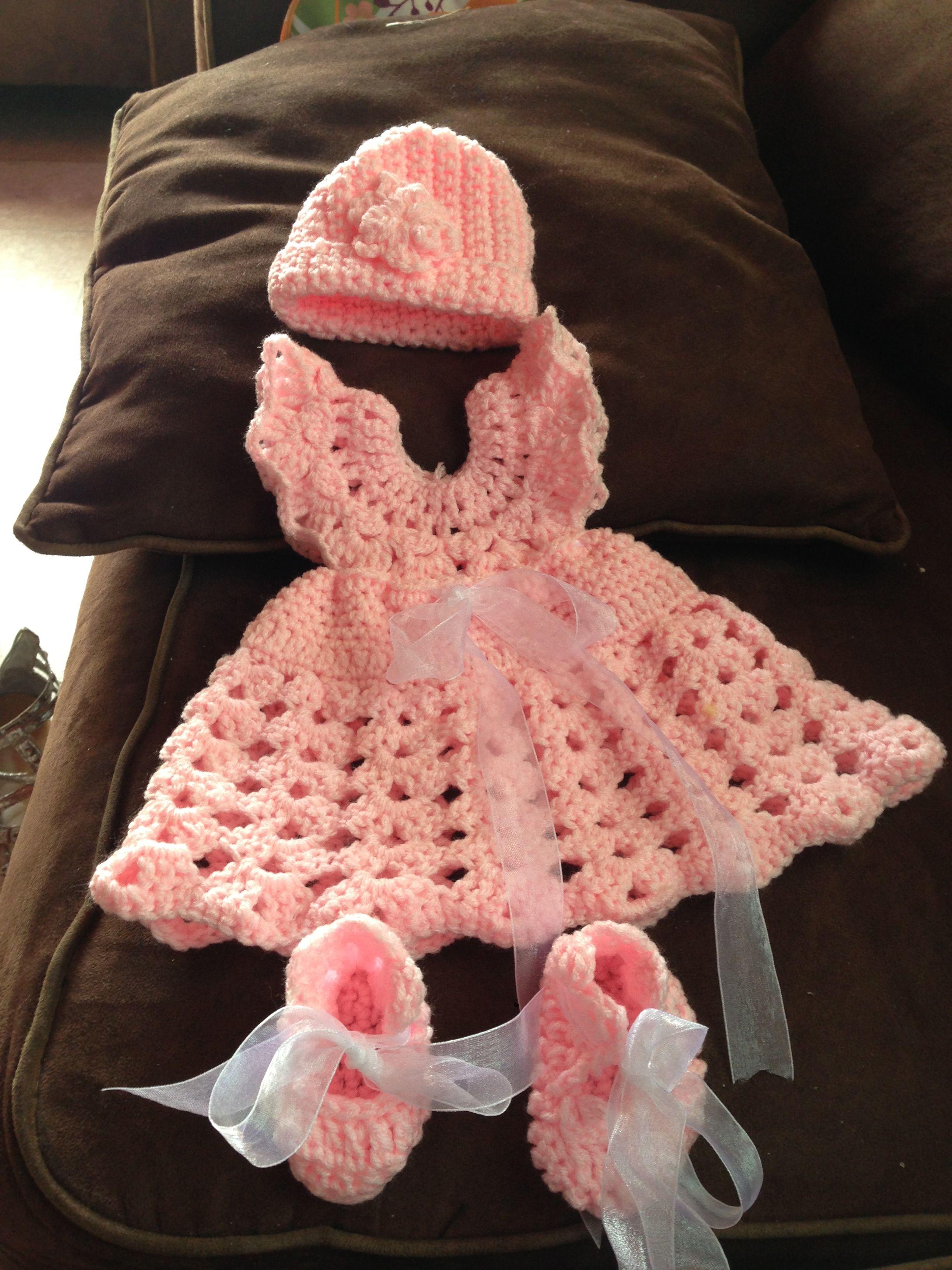 Crochet baby girl outfit   did it   Pinterest   Crochet ...