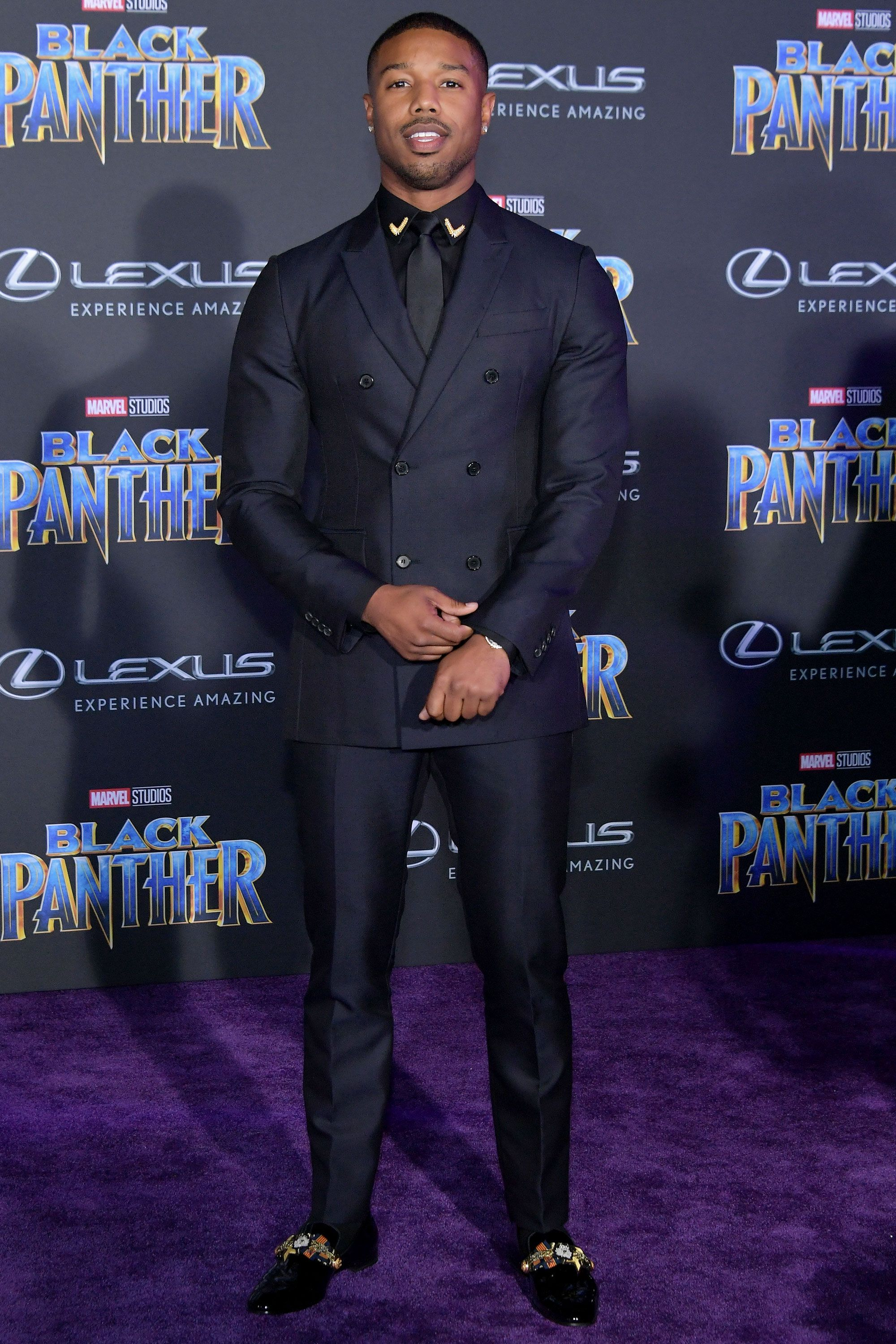 655f55cf3 Lupita Nyong'o's Plunging Black Panther Premiere Gown Makes Her Look ...