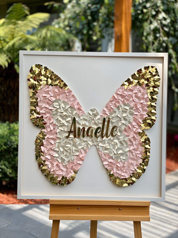 3d paper butterfly nursery wall art paper butterflies art