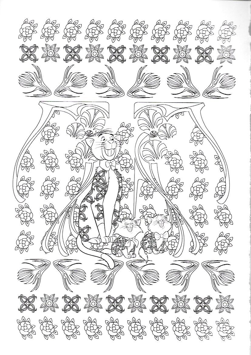 Pin by marjolaine grange on coloriage les aristochats | Pinterest