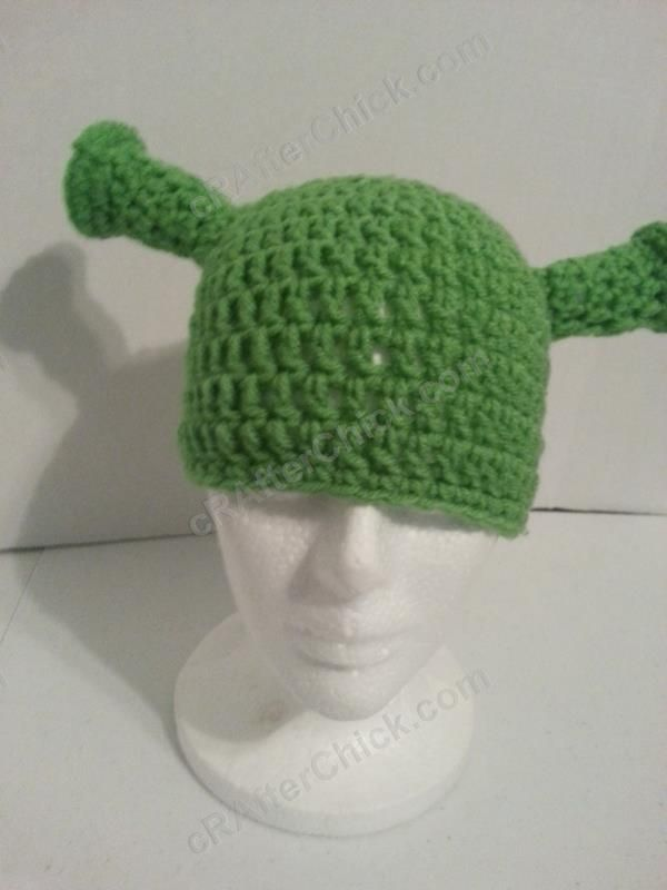 Shrek Ear Costume Beanie Hat Crochet Pattern 4 Crochet