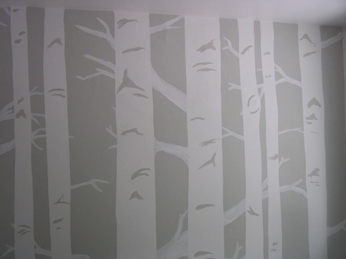 Life and Other Projects: How to Paint Birch Trees