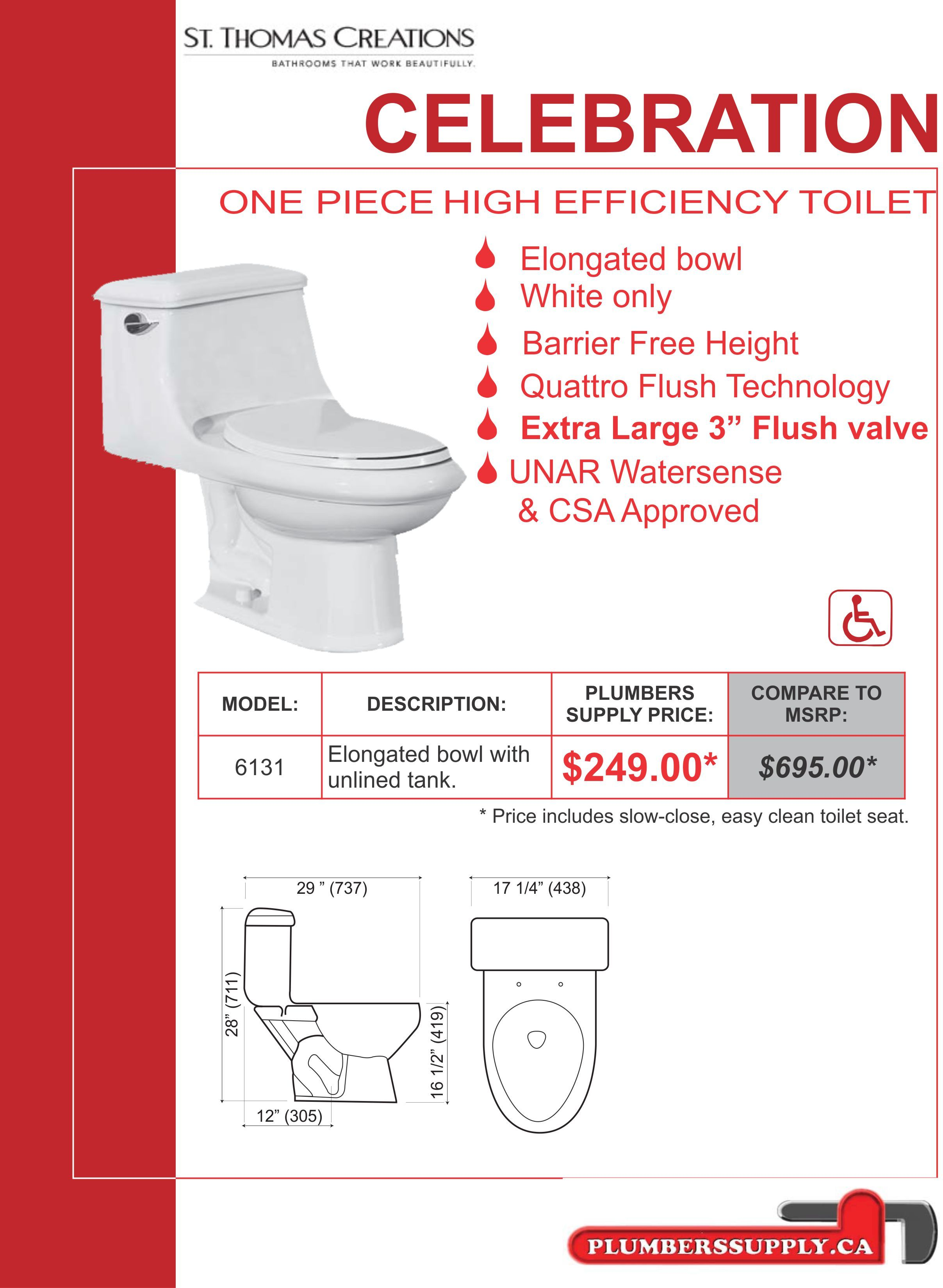 Celebration Toilet By St Thomas Creations Special Price 249 00