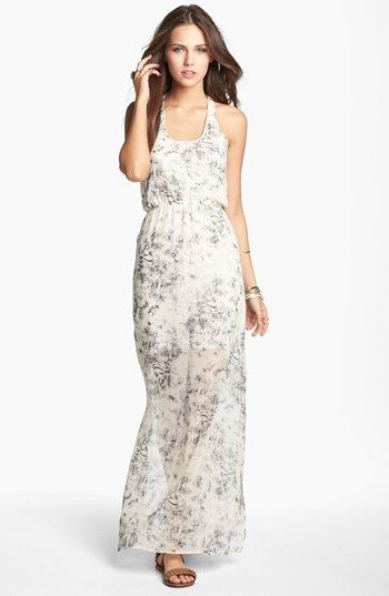 dee elle Knot Back Maxi Dress (Juniors) | Nordstrom | My Style ...