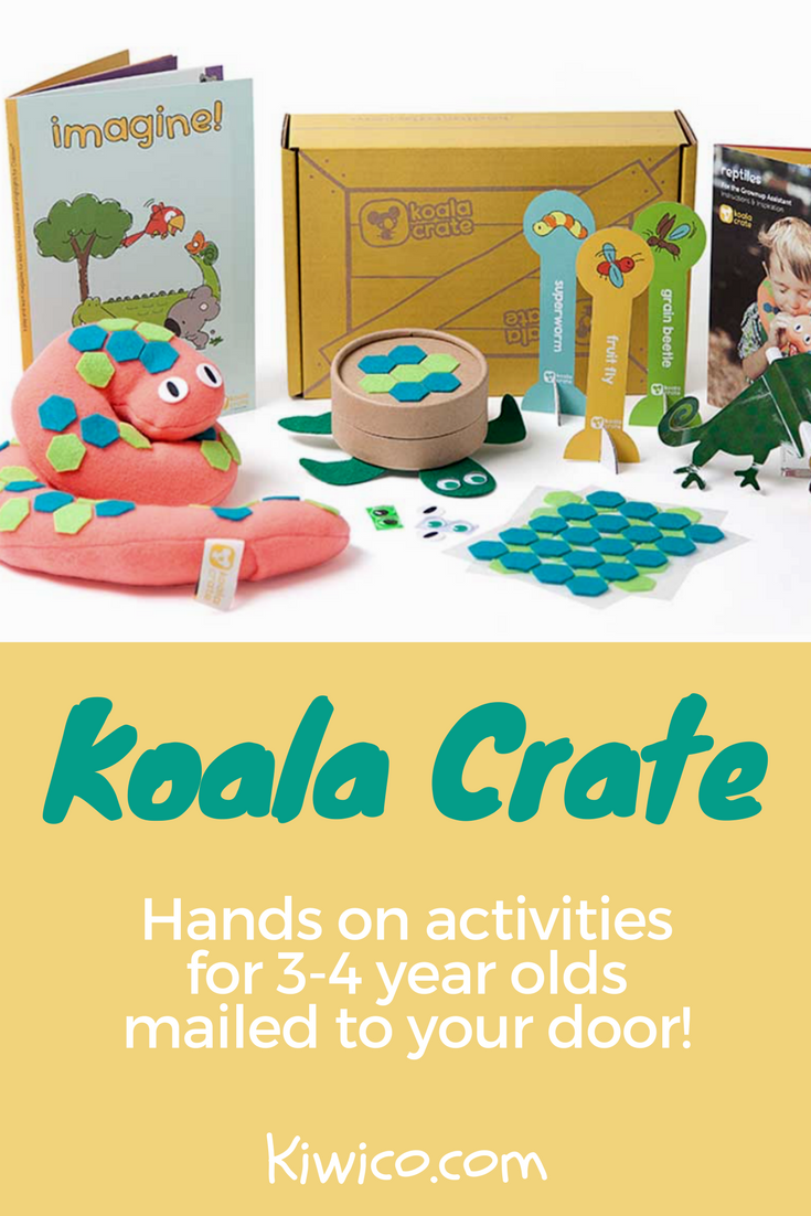The koala crate has art science and handson activities for kids