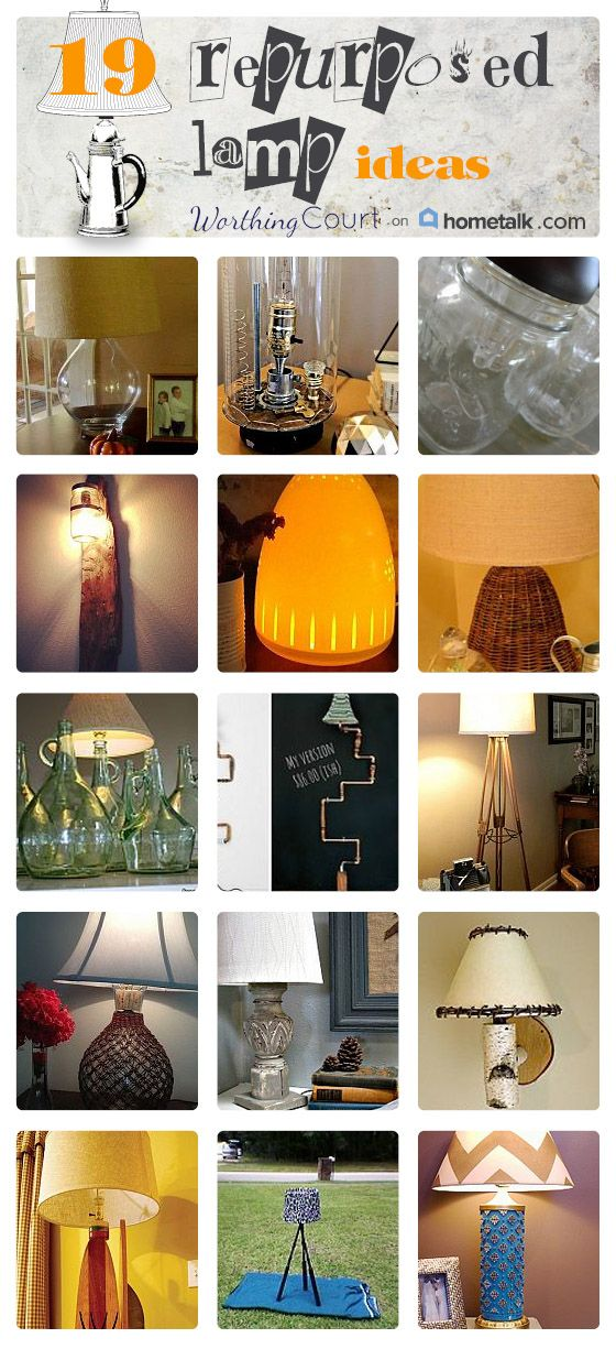 19 Repurposed Lamp Ideas | curated by 'Worthing Court' blog!