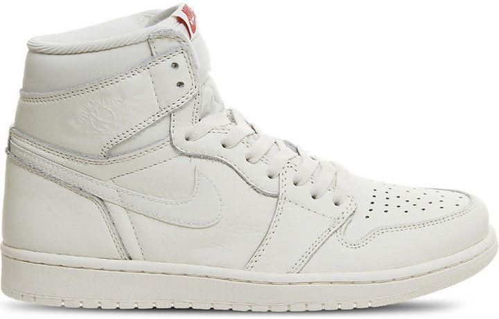 6974fffde13743 Nike Air Jordan 1 Retro leather high-top trainers