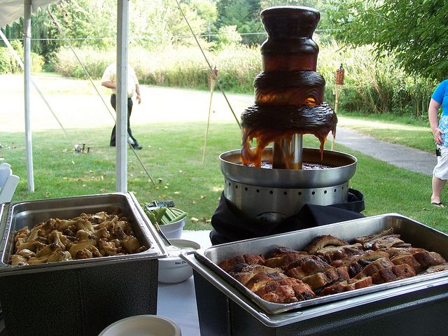 Bbq Fountain Fish Fry Food And Weddings