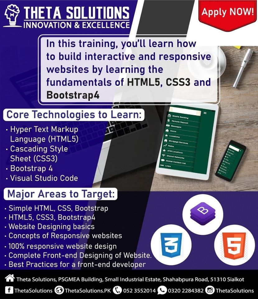 Web Designing With Javascript Html5 Css3 And Bootstrap 4 In 2020 Web Design Theta Cascading Style Sheets