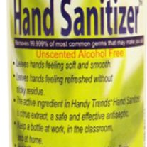 Handy Trends 8 Ounce Hand Sanitizer Removes 99 99 Of Most Common