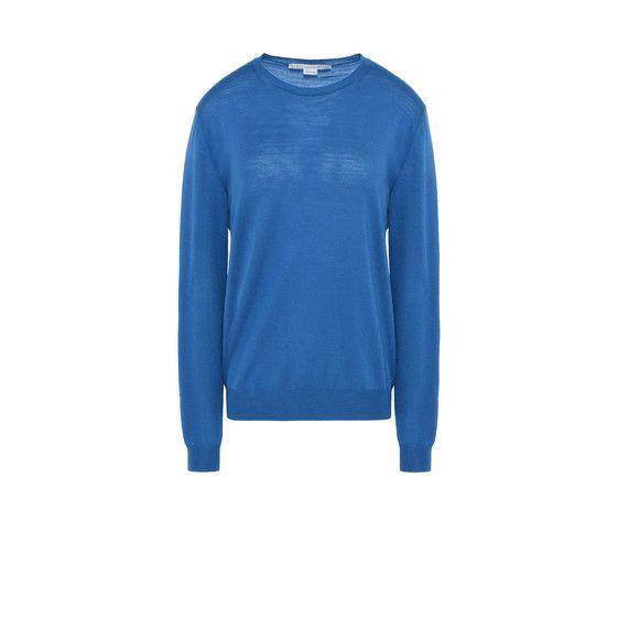 STELLA MCCARTNEY Azure Blue Crewneck Sweater. #stellamccartney #cloth #roundneck