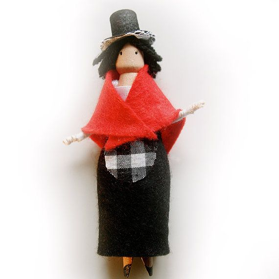 Children's Welsh Peg Doll Kit by Troodlecraft on Etsy