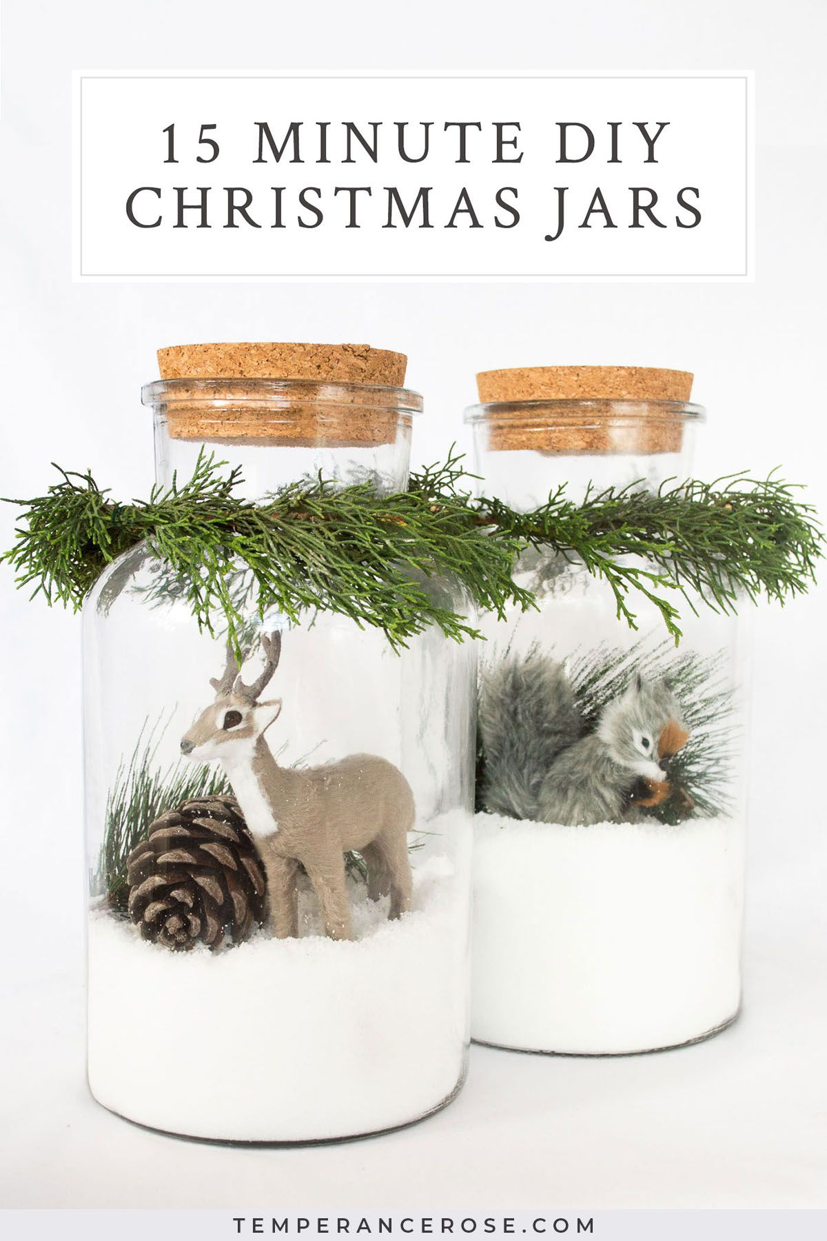 15 Minute Quick And Easy Diy Christmas Jars