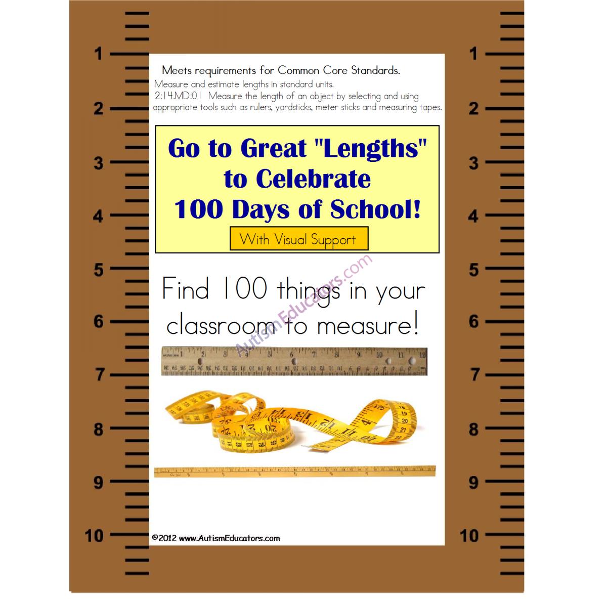 100th Day Of School Measurement Activity Common Core