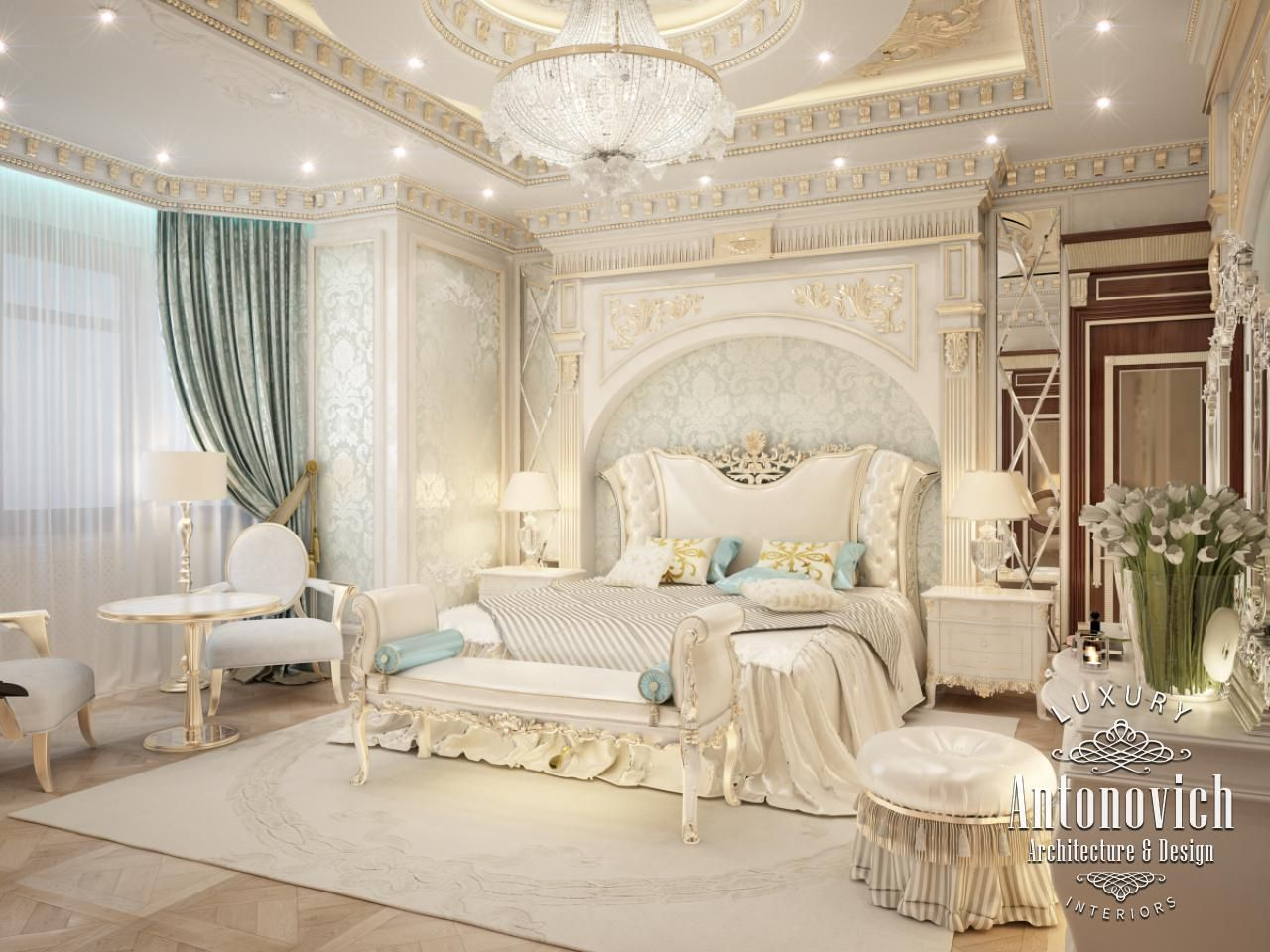 luxurious arabic style bedroom Bedroom Design in Dubai, Gorgeous Bedroom, Photo 1
