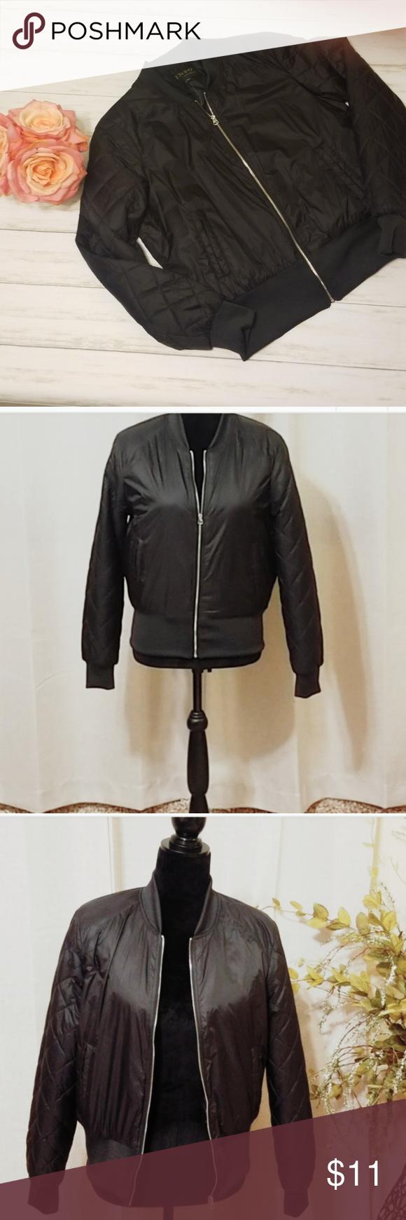 0964d0781 Inso Black Bomber Jacket Large NWOT black bomber jacket. Super cute ...
