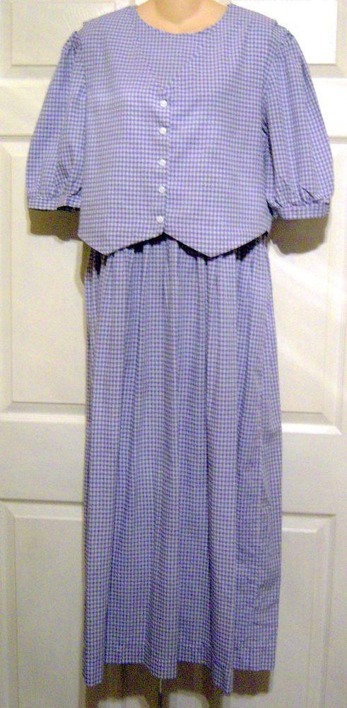 Amish Mennonite Handmade Modest 2 Piece Tall Vest Dress Bust 40 Waist 36 Handmade Vest Dress Casual Dresses Modest Dresses Cape Dress