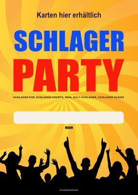 Poster Plakat Schlager Party Zum Ausdrucken Plakat Werbeplakat Poster