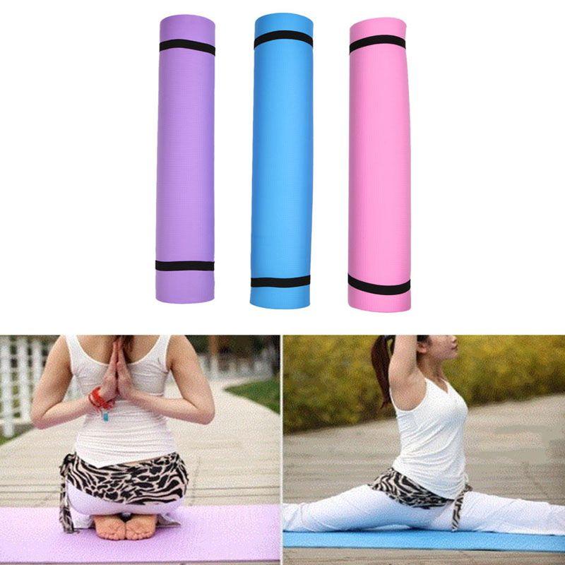3 Couleurs 4 Mm Eva Tapis De Yoga Pad Exercice Doux Epais Non Glissement Pliage Gym Fitness Mat Pilates Fournitures Non Skid Le Jeu Au Sol Tapis