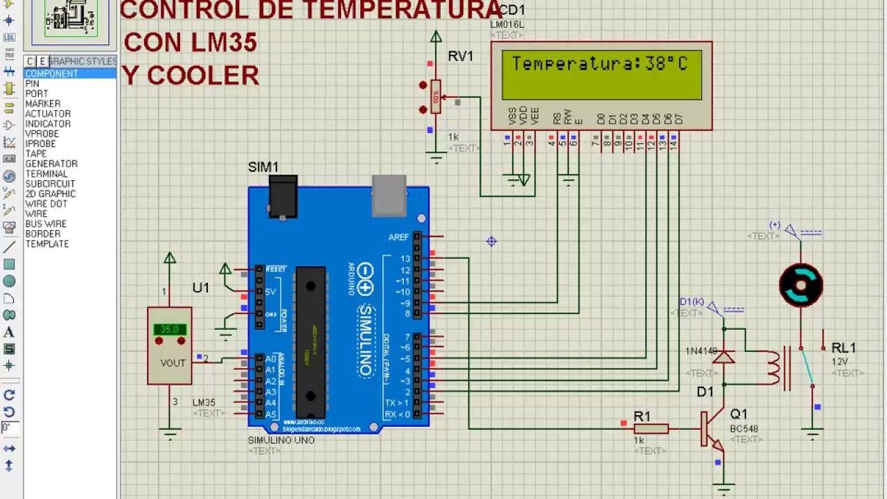 Control De Temperatura Con Lm35 Cooler Y Lcd Arduino