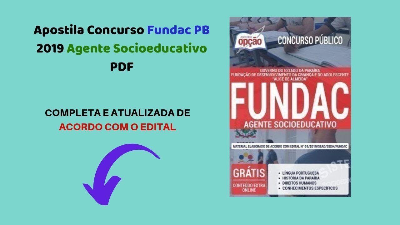 Baixar A Apostila Fundac 2019 Agente Socioeducativo Pdf Download