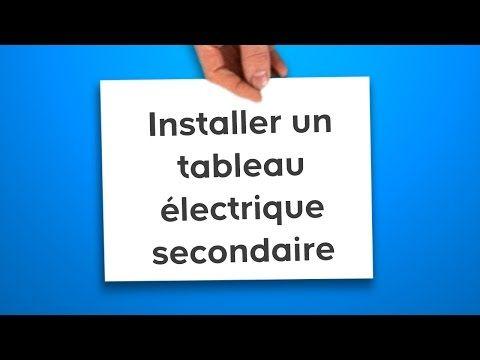 Installer un tableau électrique secondaire ID maison Pinterest