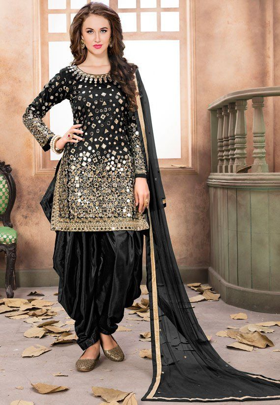 06b2525f888 Black Mirror Work Patiala Suit. Black Mirror Work Patiala Suit Salwar Suits  Pakistani
