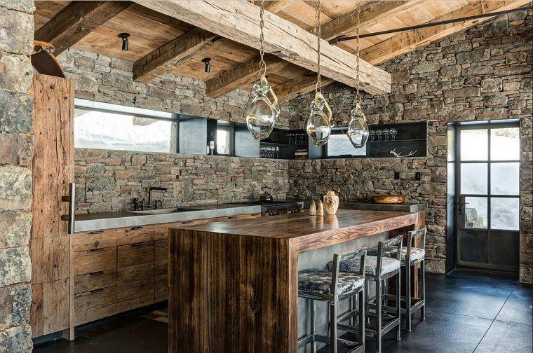 Muebles rústicos para la cocina - 20 opciones originales - | Cabins ...