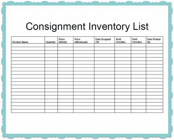 wwwscribd doc 136322147 Consignment-Inventory-Template - inventory template