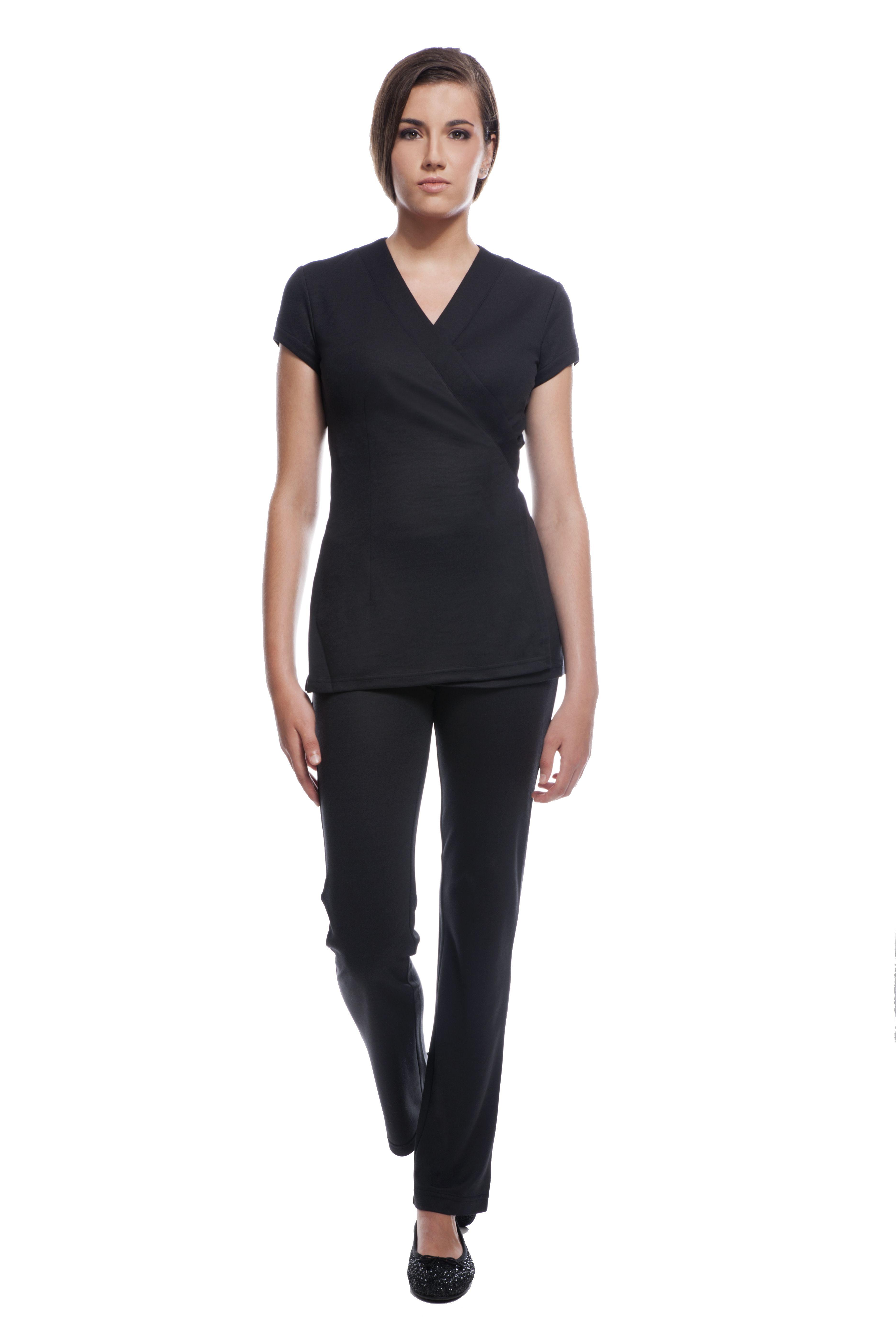 Stylemonarchy spa uniform sao paulo tunic cancun pants for Spa uniform images