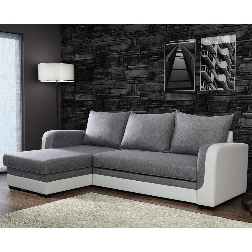 Corner Sofa Bed Bora Sleep Function Bedding Container Faux Leather Fabric New Ebay
