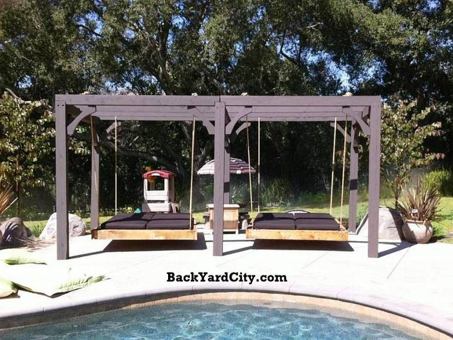 Outdoor Bed Swings | ... Garden Furniture Outdoor Wood Furniture Swing Beds  Nautical Swing