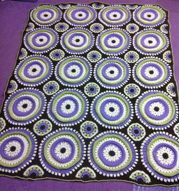 Ring Toss 1 by Marcy L Ka, via Flickr   Crochet afghan   Pinterest