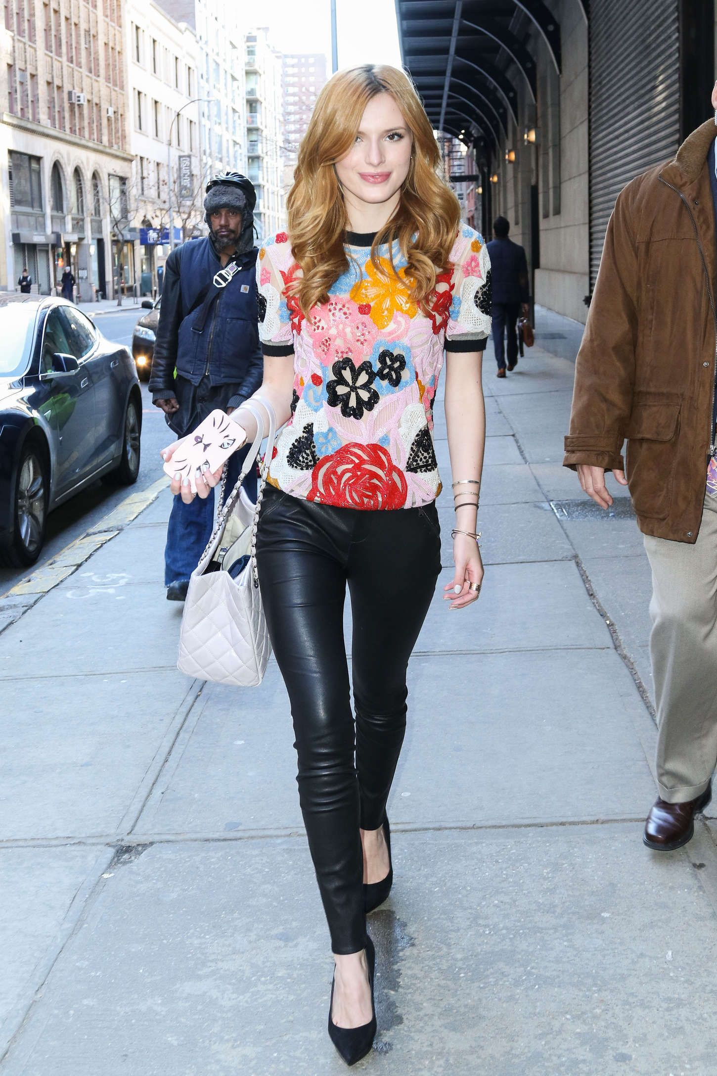 Bella Thorne Goes Edgy Chic As She Arrives at The View photo