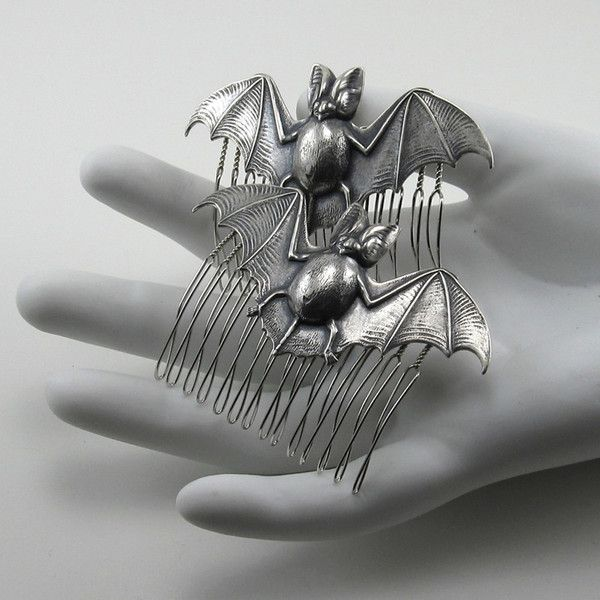 Want! Bat Hair Combs by Ghostlove