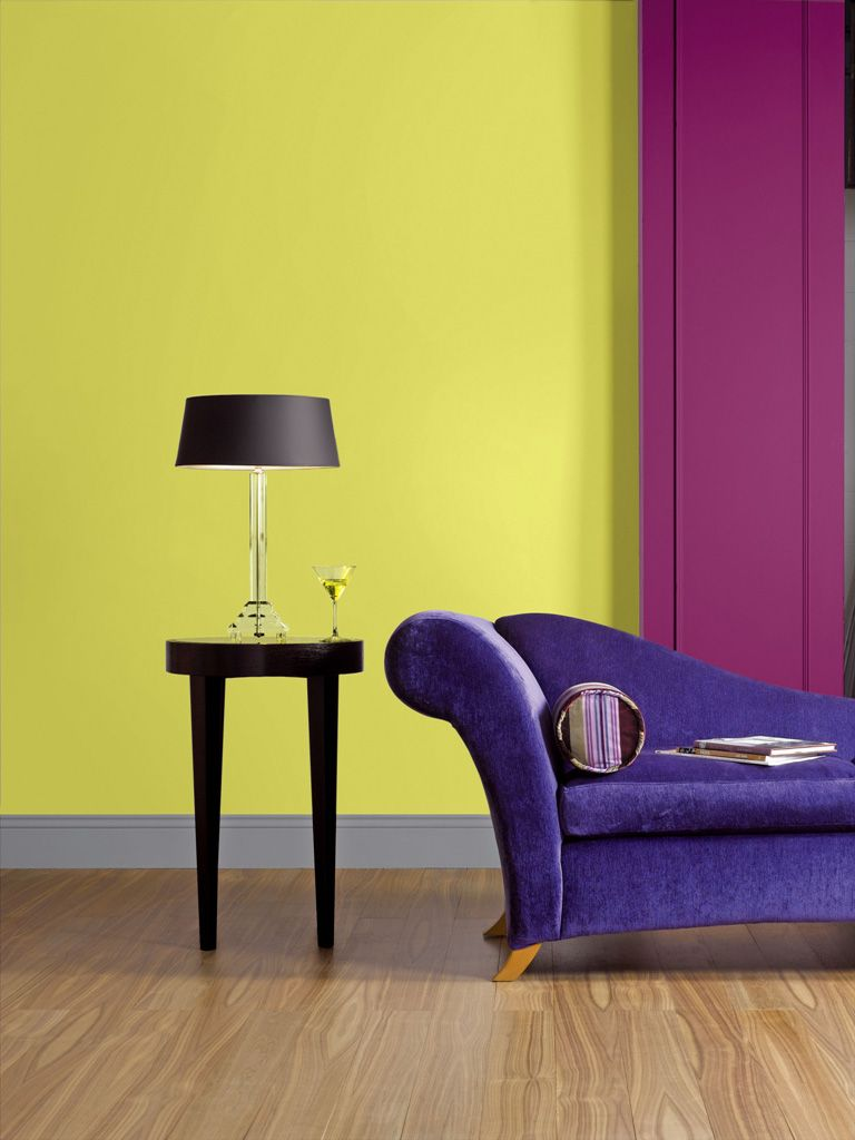 Features Crown Paints Feature Wall Range- Chartreuse Mix and ...
