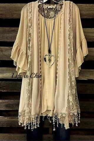 SECRETS OF THE HEART VINTAGE INSPIRED VEST LACE FRINGE IN PEACH 1