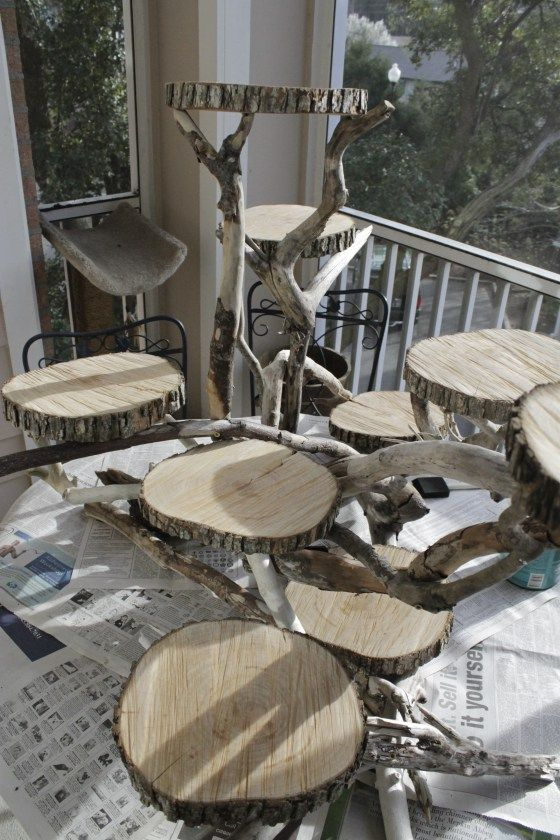 Driftwood Cupcake Display - Charleston Crafted