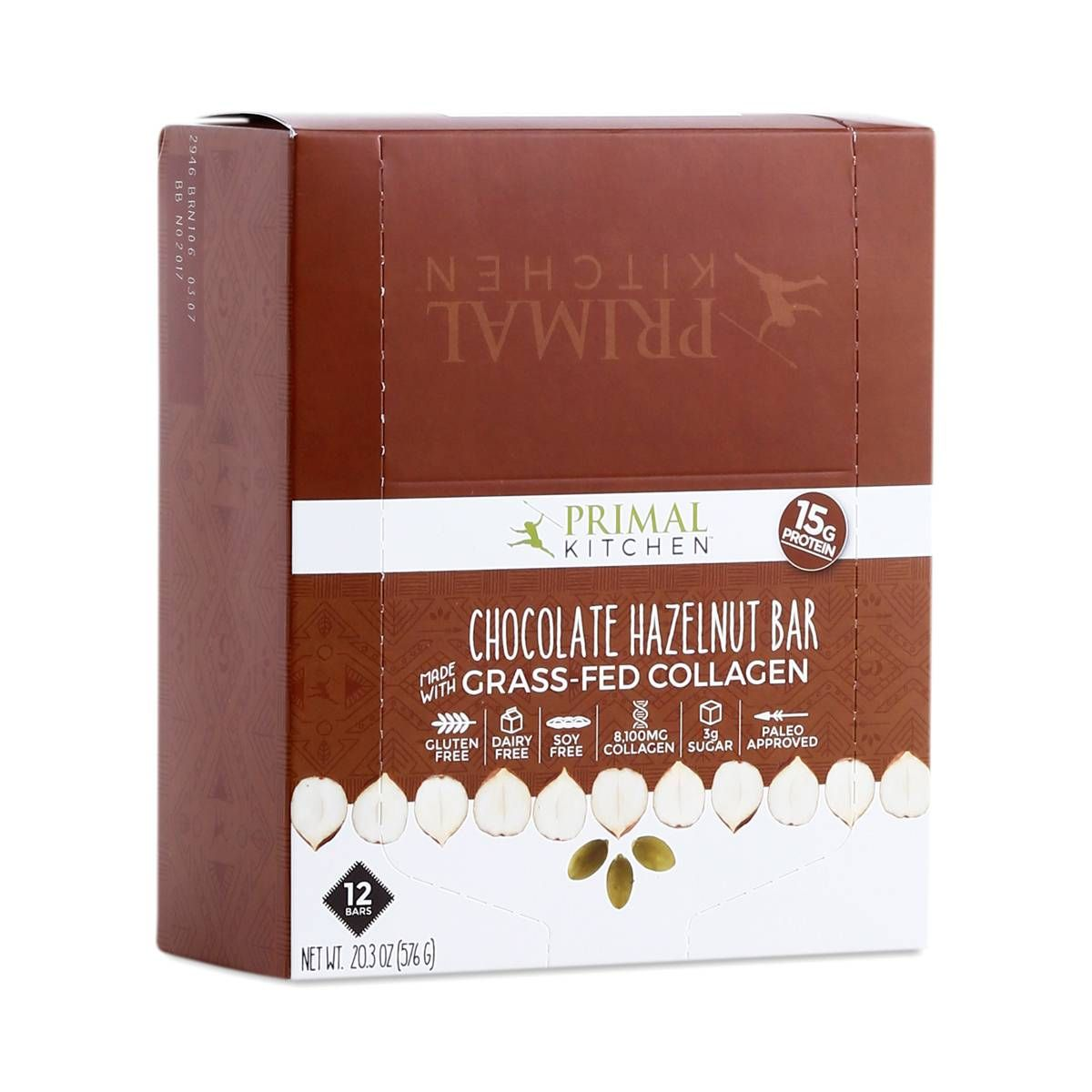 Primal Kitchen Collagen Fuel Bar Chocolate Hazelnut