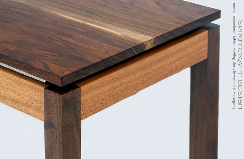 Walnut And Mahogany Desk And Dining Table Solid Hardwood Furniture Hardwood Furniture Modern Wooden Furniture Mahogany Desk