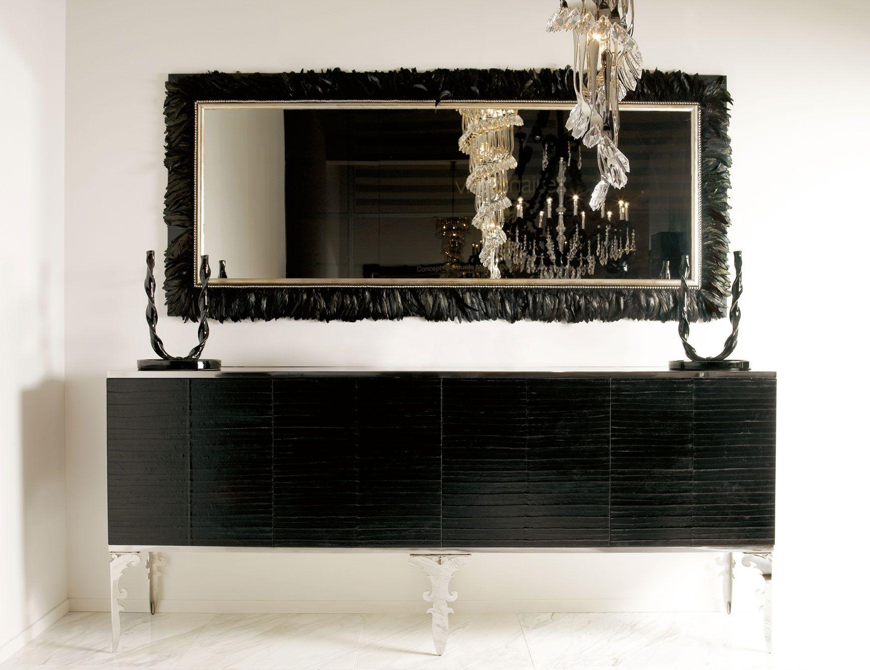 Fresh Black Lacquer Buffet Cabinet