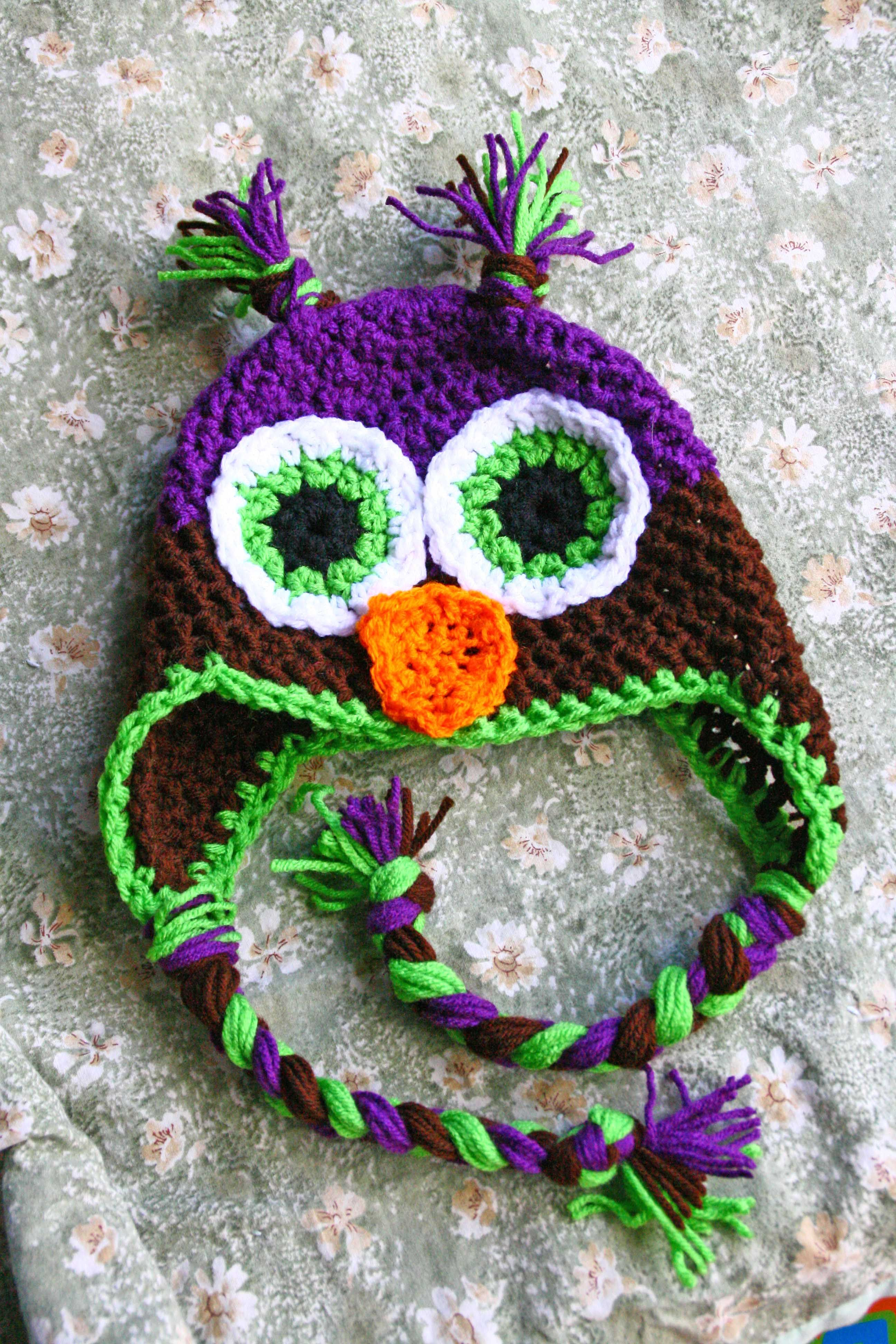 Crochet Owl Hat Pattern   Owl patterns, Owl and Patterns