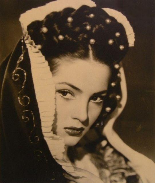 "Sara Montiel ~ (1928 – 2013), first big hit, as 'Aldara' in the Spanish film ""Locura de amor"" (1950)"