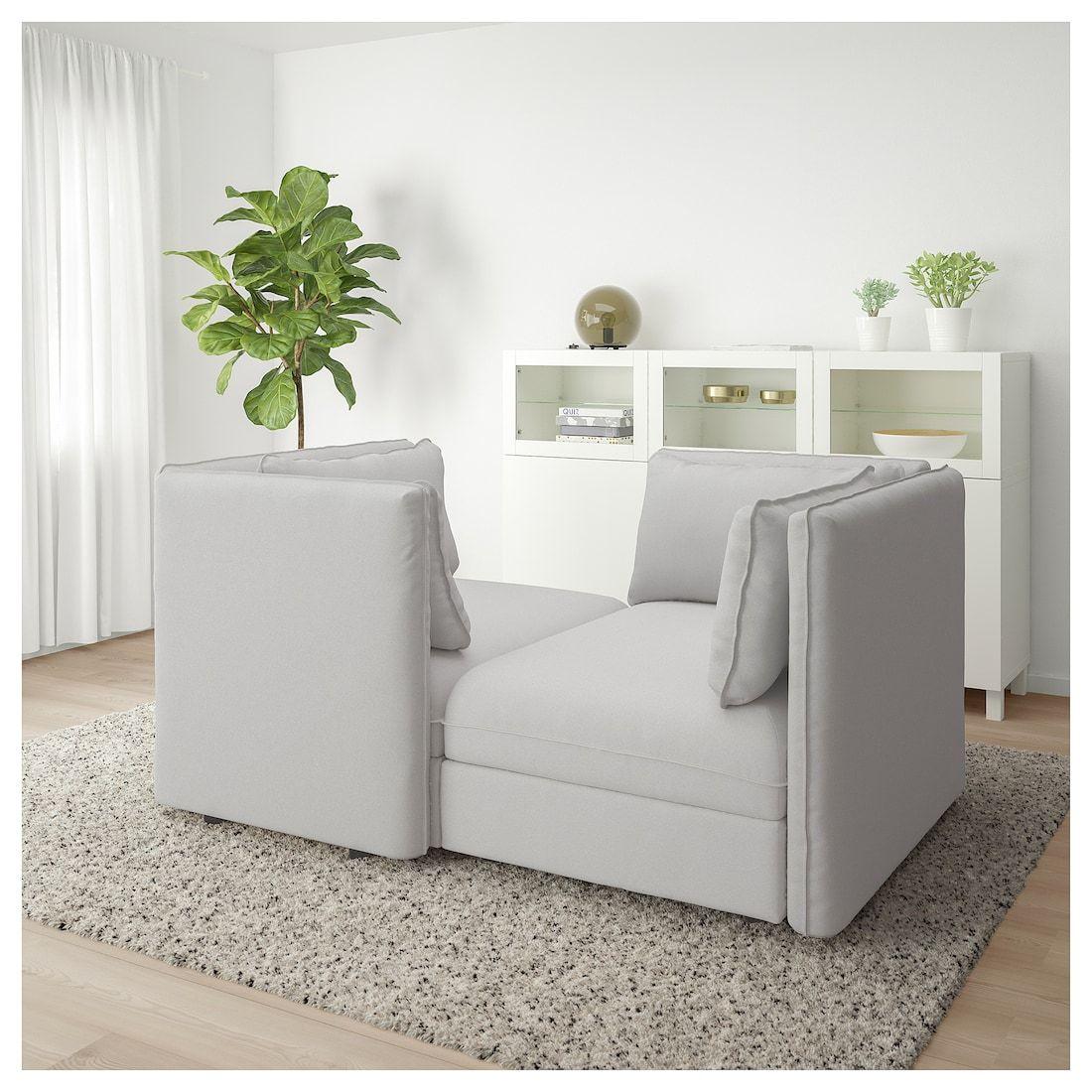 Vallentuna Modular Loveseat Orrsta Light Gray Ikea Vallentuna Love Seat Modular Sofa